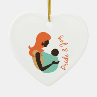 Pride & Joy Double-Sided Heart Ceramic Christmas Ornament