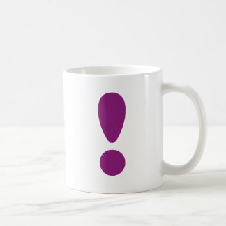 Pride Letter Exclamation Purple.png Classic White Coffee Mug