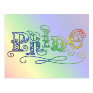 """Pride"" LGBT Rainbow gay pride products Postcard"