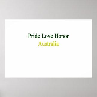 Pride Love Honor Australia Poster
