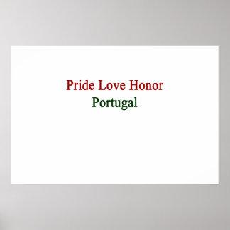 Pride Love Honor Portugal Poster