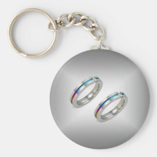 Pride Marriage Bands Keychains