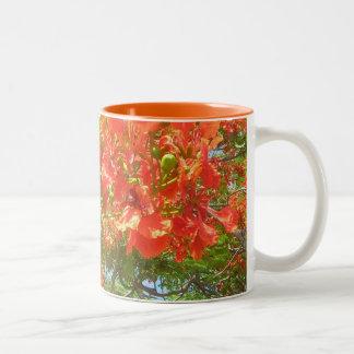 Pride of Barbados Caribbean Flora Two-Tone Coffee Mug