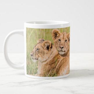 Pride of Lion Cubs Large Coffee Mug