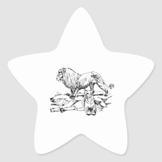 Pride of Lions Star Sticker