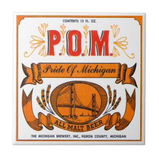 Pride Of Michigan Beer Tile