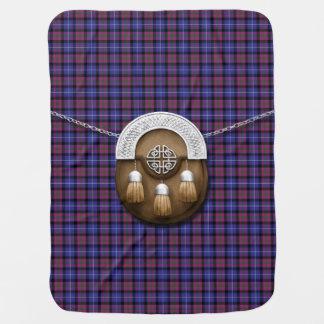 Pride Of Scotland Fashion Tartan And Sporran Receiving Blanket