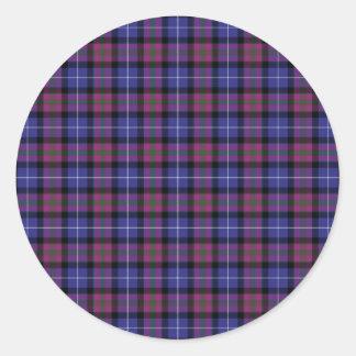 Pride Of Scotland Fashion Tartan Classic Round Sticker