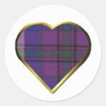 Pride of Scotland Heart Envelope Seal Classic Round Sticker