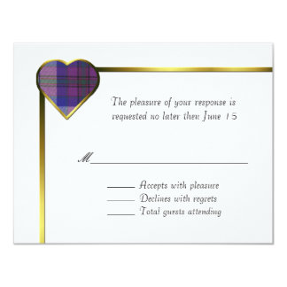 Pride of Scotland Heart RSVP Card
