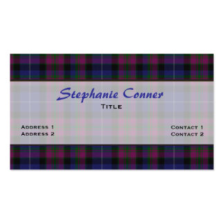 Pride of Scotland Tartan Plaid Custom Double-Sided Standard Business Cards (Pack Of 100)