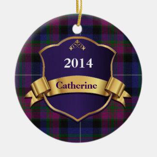 Pride of Scotland Tartan Plaid Custom ornament