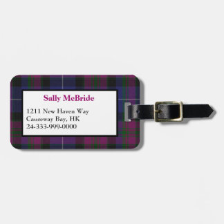 Pride of Scotland Tartan Plaid Luggage Tag