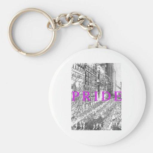 PRIDE PARADE VINTAGE -- .png Key Chain