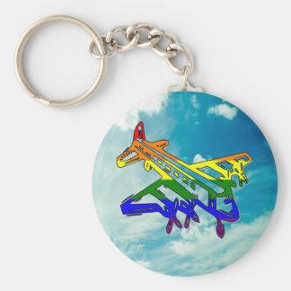 Pride Plane Key Chains
