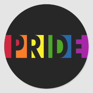 Pride Pop Round Black Sticker