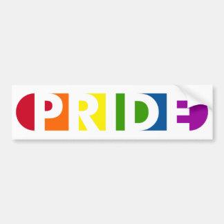 Pride Pop White Bumper Sticker Car Bumper Sticker