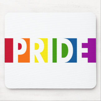 Pride Pop White Mousepad