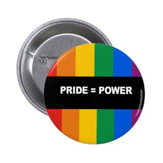 Pride = Power Bumper Sticker 2 Inch Round Button