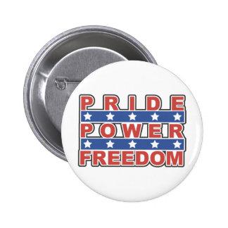 Pride Power Freedom 2 Inch Round Button