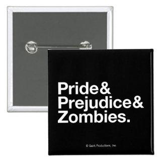 Pride & Predjudice & Zombies 2 Inch Square Button