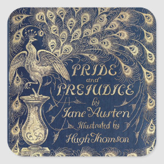Pride & Prejudice Antique Cover Square Sticker