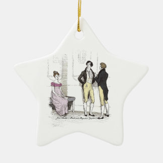 Pride & Prejudice Elizabeth Slighted by Mr. Darcy Ceramic Ornament