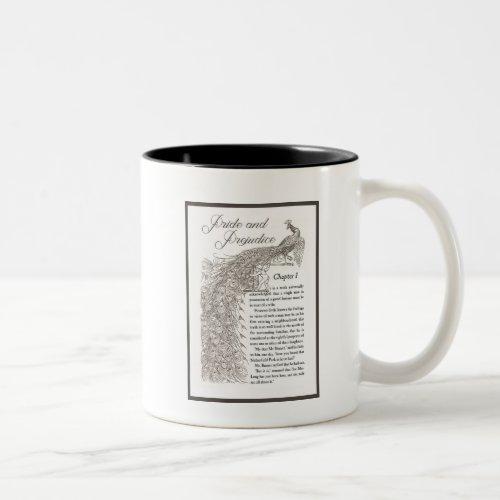 Pride  Prejudice first page mug