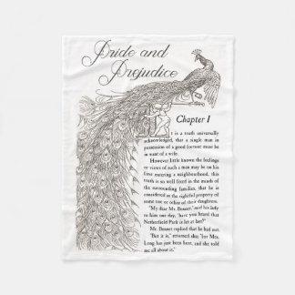 Pride & Prejudice Fleece Throw Fleece Blanket