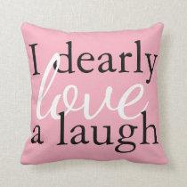 Pride & Prejudice | Pink Jane Austen Quote Pillows
