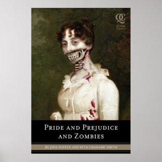 Pride Prejudice & Zombies Cover Poster print