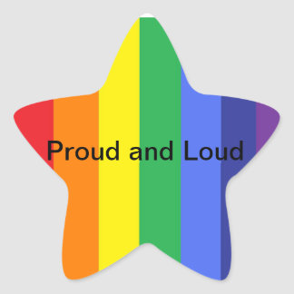 Pride - Proud and Loud Star Sticker