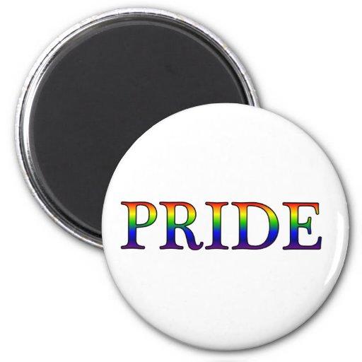 Pride -- Rainbow background 2 Inch Round Magnet