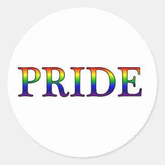 Pride -- Rainbow background Classic Round Sticker