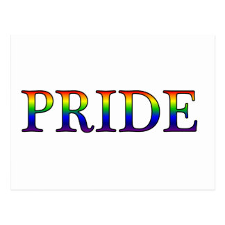 Pride -- Rainbow background Post Cards