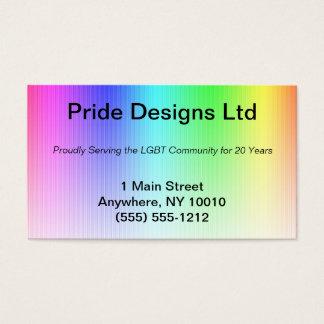 Pride Rainbow Business Card