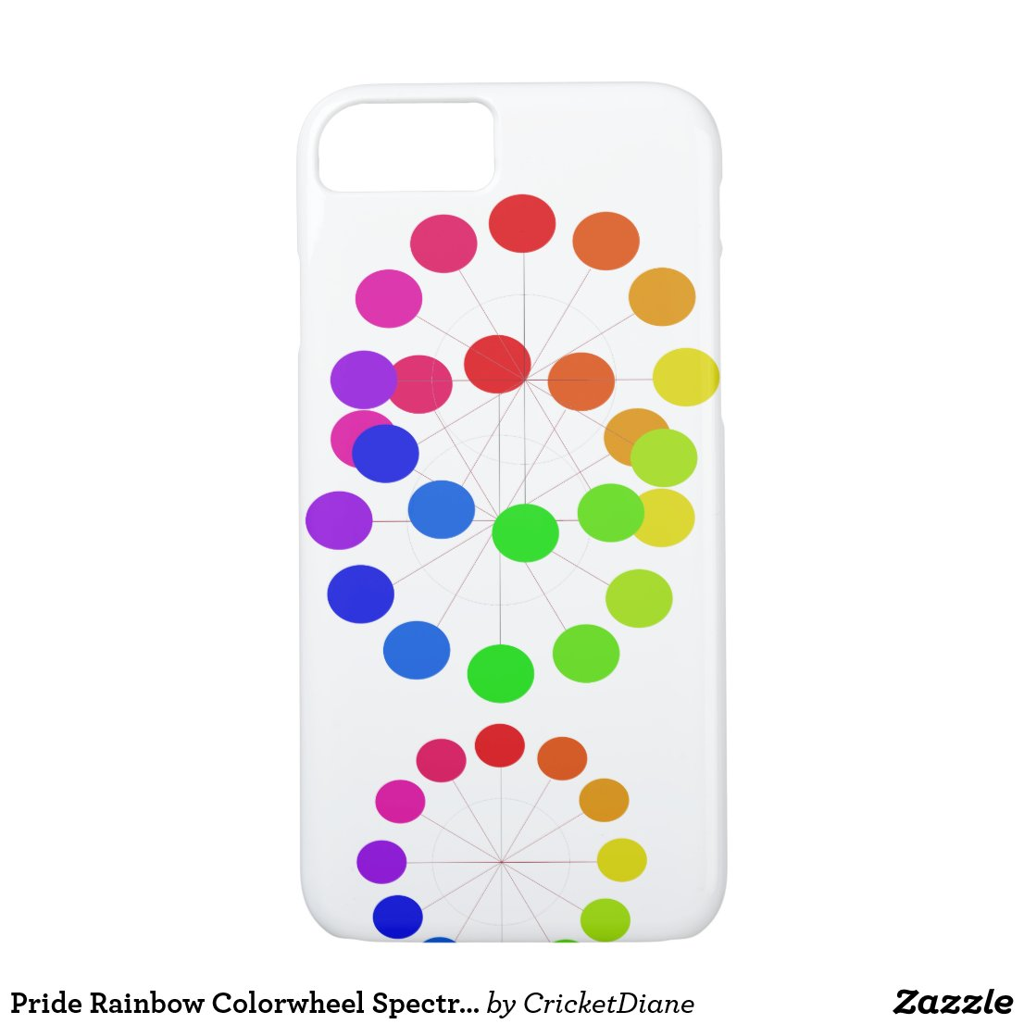 Pride Rainbow Colorwheel Spectrum CricketDiane iPhone 8/7 Case