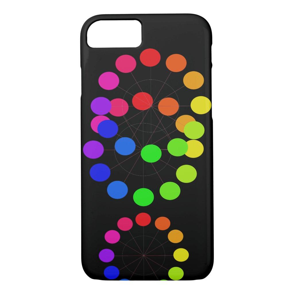 Pride Rainbow Colorwheel Spectrum Pop Art Chic iPhone 8/7 Case