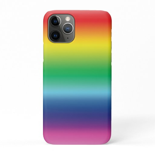 pride rainbow flag color lgbt iPhone 11 pro case