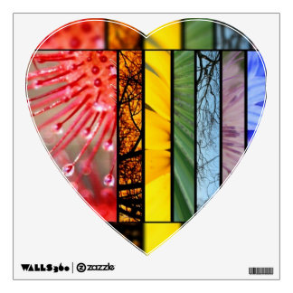 Pride Rainbow Heart LGBT Symbol Nature Rainbow Wall Sticker