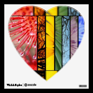 Pride Rainbow Heart LGBT Symbol Nature Rainbow Wall Sticker