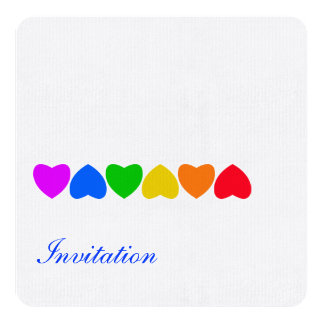 Pride Rainbow Heart Line Card