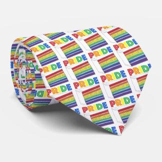 PRIDE Rainbow Layer Cake Slice Gay Pride Tie