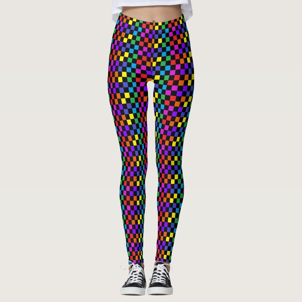 PRIDE Rainbow Leggings Dance Dancers Fun Artsy