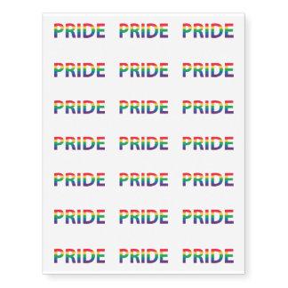 Pride Rainbow Letters Word Temporary Tattoos