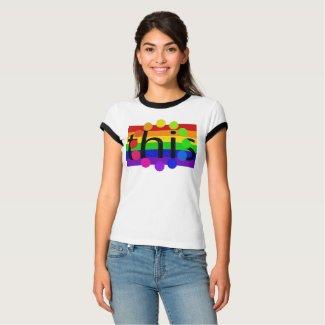 PRIDE Rainbow Shirt This Support Diversity