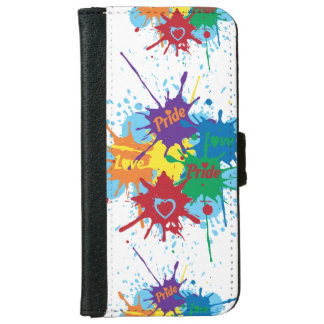 Pride Rainbow Splatter iPhone 6/6s Wallet Case