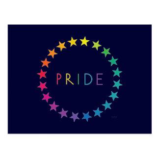 Pride Rainbow Stars Postcard