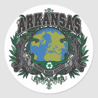 Pride Recycle Arkansas Classic Round Sticker