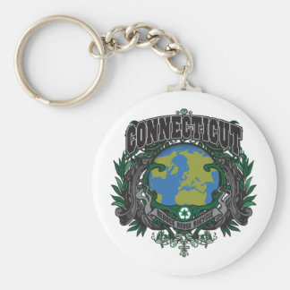 Pride Recycle Connecticut Keychain